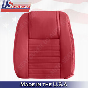2005 To 2009 Ford Mustang Driver Upper Lean Back Red Leather Seat Upholstery