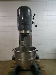 Hobart M802 80qt Dough Mixer Whisk paddle bowl 208 Volts 3 Phase Tested