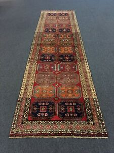 Sale S Antique Hand Knotted Persian Rug Geometric Runner Carpet 3 X10 7 26314
