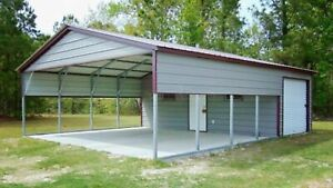 Steel Metal Workshop Garage Utility Shed Building Storage 20 X 31 X 9