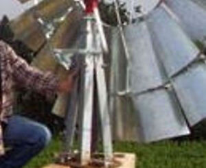 Stub Tower W Mast Pipe Lower Furl For B 702 Aermotor Style Windmill