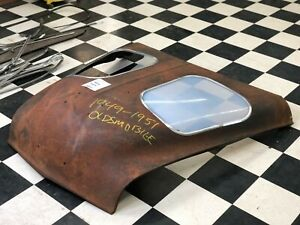 1949 51 Oldsmobile Showroom Dealer Display Hood Rocket V8 Engine Used