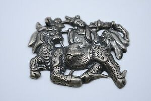 Antique Chinese Pendant Sterling Silver Beautiful Detail