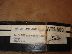 Vintage 1960s 1970s Sun Wt 260 Water Temperature Gauge Sender Wts 500 1 2 Gm