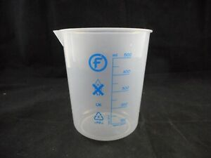 Fisherbrand Plastic 500ml Polypropylene Pp Graduated Pourout Low form Beaker