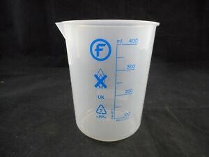 Fisherbrand Plastic 400ml Polypropylene Pp Graduated Pourout Low form Beaker