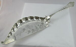 Antique Tiffany Sterling Silver Persian Large Crumber W Bright Cut Morning Glory