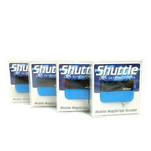 Shuttle Mobile Magstripe Credit Card Reader Lot Of 4 Blue