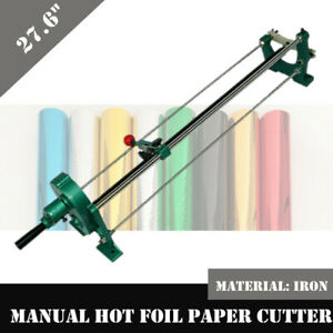 Hot Stamping Foil Paper Cutter Hand Cutting Machine Paper Roll Slitter 70cm New