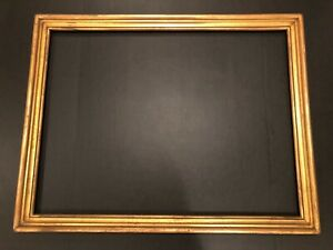 Antique Large Arts Crafts Style Gold Leaf Gilt Picture Frame 19e