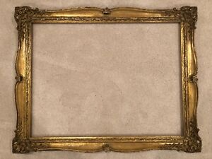 Antique 34x25 Gold Gilt Gilded European Baroque Large Vintage Picture Frame D