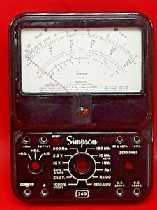 Simpson 260 Series Afp 1 Replacement Front Meter Panel Vom Multimeter nos