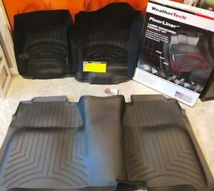 Weathertech Floor Liner Front Rear Gmc Chevy Crew Cab 2014 17 Free Shipping
