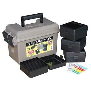 MTM Ammo Can Combo 50 Caliber Plastic w 4 Flip-Top Ammo Boxes ACC223