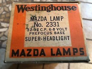 Nos Box Auto Super Head Lamp Car Light Bulbs Westinghouse 2331 6 8v 32 32cp