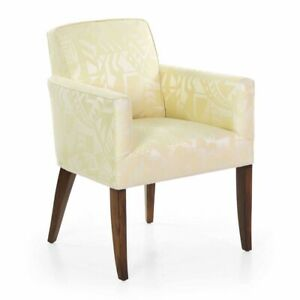 Art Deco Chair Yellow Damask Rosewood Armchair Circa 1935