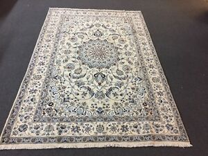 On Sale Fine Hand Knotted Persian Naein Naeen Silk Wool Rug Carpet 6 4 X9 8