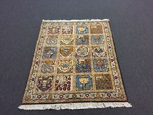 On Sale Unique Beautiful Hand Knotted Rug Garden Animal Carpet 3 2x4 2808