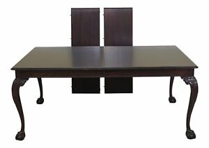 L47237ec Stickley Clawfoot Mahogany Dining Room Table