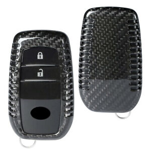 Car Remote Key Cover Case Protective Carbon Fiber Fit Toyota Corolla Camry Crown