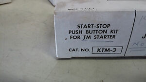 Joslyn Clark Ktm 3 New In Box Start stop Pushbutton Kit Missing Screws a63