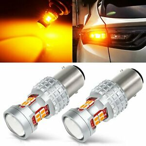 2x Amber Yellow 1157 30w High Power Led Turn Signal Parking Stop Light Bulbs
