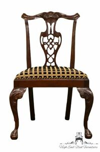 Hickory Chair Mahogany Chippendale Style Dining Side Chair 865 02