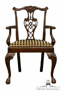 Hickory Chair Mahogany Chippendale Style Dining Arm Chair 865 01