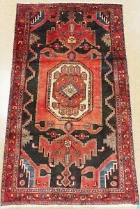 Persian Tarom Rug Tribal Hand Knotted Wool Navy Red Dramatic Oriental 4 4 X 7 5