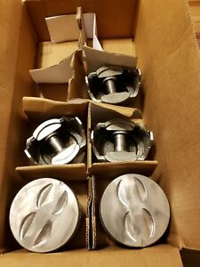 Chevy 327 Sealed Power Speed Pro Cast Flat Top Pistons 030 Silvolite