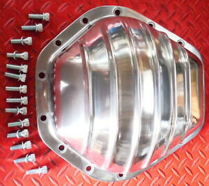 Rear End Cover Truck Gm Corporate 14 Bolt Polished Aluminum 10 5 Ring 1 Ton