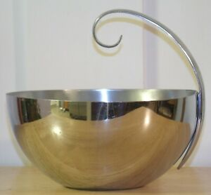 Vintage 1930s Chase Mfg Co Usa Art Deco Chrome Metal Russel Wright Ice Bucket Nr