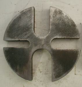 10 3 8 Steel 6 To 12 Ton Slotted Arbor Press Anvil Wheel Shop Support Plate