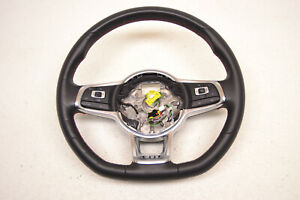 Mk7 Vw Gti Black Leather Steering Wheel W Red Stitching 6 Speed Oem 2015 2019