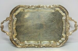 Antique F B Rogers Silver Co Trademark 1883 Silver Plated Tray