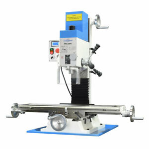 Pm 30mv Vertical Bench Type Milling Machine Variable Speed Free Shipping