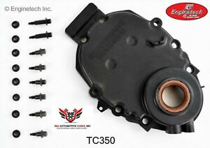 Chevy Chevrolet 305 350 5 7 1996 2002 Enginetech Timing Chain Cover With Sensor