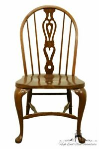 Pennsylvania House Solid Oak Rustic Traditional Spindle Back Dining Side Chair