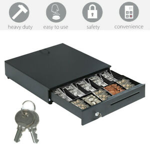 Cash Drawer Bill And Coin Tray Storage Box Heavy Duty Compact With Safety Lock
