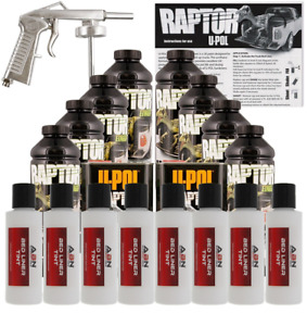 U pol Raptor Bright White Urethane Spray Truck Bed Liner W Gun 8 Liters Upol