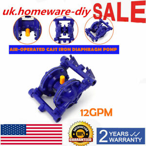 Qbk 15 Air operated Double Diaphragm Pump Cast Iron 1 2 Inch Inlet