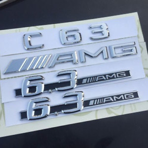C63 Amg 6 3 Side Stickers Letters Trunk Embl Badge Sticker For Mercedes Benz