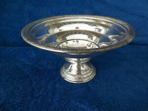 Hallmarked S Weighted Sterling Silver Compote