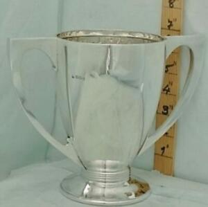 392 Art Deco English Sterling Silver Trophy Loving Cup 1930 Not Inscribed