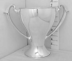 273 Graceful Antique English Sterling Silver Trophy Loving Cup Not Inscribed