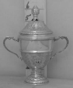 245 Small English Sterling Silver Trophy Loving Cup And Cover By Charles Boyton