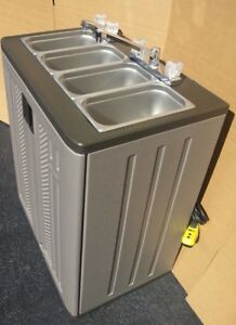 Portable Sink Mobile Concession Compartment Hot Water 4 Compartment