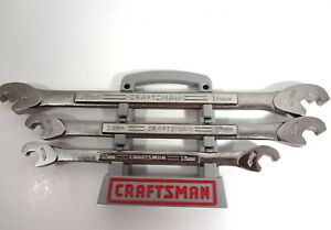 Usa Craftsman Metic Open End Ratcheting Combination Wrench Set Alloy Steel