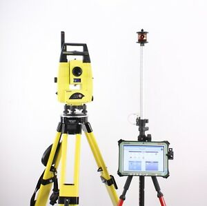 Leica Icr55 Robotic Total Station Kit W Rugged Cs35 10 Tablet Mpr122 Icon 50