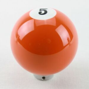 Orange 5 Pool Ball Gear Shifter Handle Shift Knob Column Floor Hot Rat Rod Truck